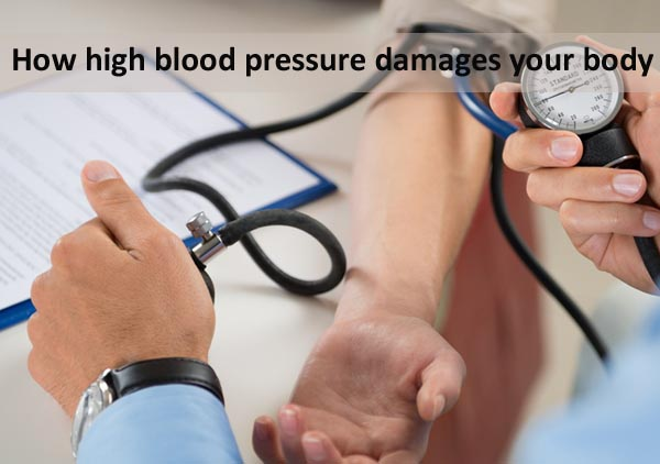 How high blood pressure damages your body